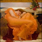 Lamina XXL giant Leighton Flaming June: Pre-Raphaelite