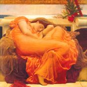 Lamina Leighton, Flaming June: PRERRAFAELITA