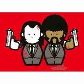 Pulp Fiction Vincent and Jules Red