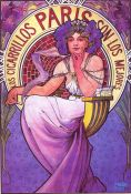 Art Nouveau: Alphonse Mucha, Cigarrillos Paris