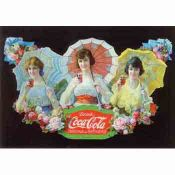 Coca Cola, Cartel Publicitario antiguo con Sombrillas