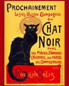 Art Nouveau, Black Cat, Chat Noir