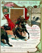 Bulls, Madrid 1902: Bullfighting Poster