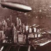 Zeppelin over New York: Urban Landscape