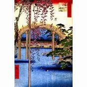 Hiroshige, Japanese Painting, Bridge