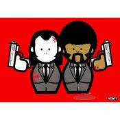 Pulp Fiction Mural POP ART Vincent and Jules Red