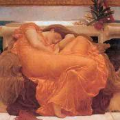 Leighton, Flaming June: PRERRAFAELITA