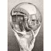 Escher, Hand with Reflective Sphere