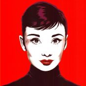 Antonio de Felipe, Audrey in Red Pop Art
