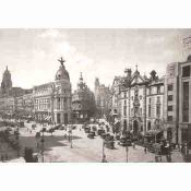 Madrid, Alcala crossing Gran Via, Year 1920