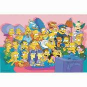 Simpsons, Springfield watching TV