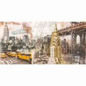 New York Collage Painting