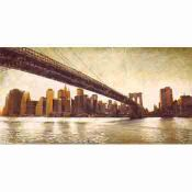 Pintura Urbana, vista del Brooklyn bridge