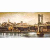 Pintura Urbana, vista del Manhattan bridge
