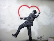 Cuadro de Banksy: Love is love