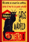 Los Gatos de Madrid - spanisches Plakat