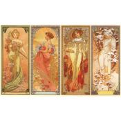Art Nouveau: Alphonse Mucha, The Seasons