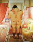 Botero, Man in the Bathroom