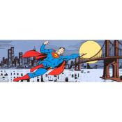 Mural Comic, Superman, Metropolis Skyline
