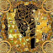 cuadro mandala en madera tributo al arbol de klimt