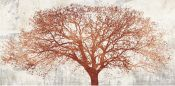 Arbol abstracto decorativo en mural. ALESSIO APRILE TREE OF BRON