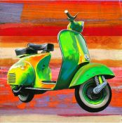 TEO RIZZARDI POP SCOOTER vespa en arte pop