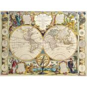 Universal map of the earth 1755